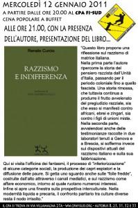 Presentazione del libro RAZZISMO e INDIFFERENZA al cpa fi sud